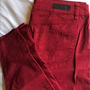 Calvin Klein red jeggings. Size 6 (28)